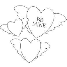 Be Mine Picture To Color Free