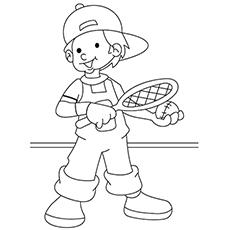 Tennis Coloring Pages | Coloring pages for kids, Coloring books ... | 230x230