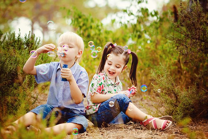 Fun Activities For Kids - The Bubble Contest