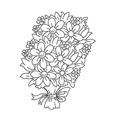 The Bunch Of Flowers Coloring Images