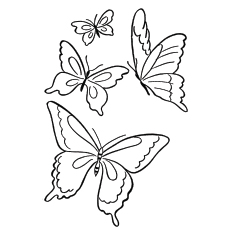 Printable butterfly coloring page | 230x230