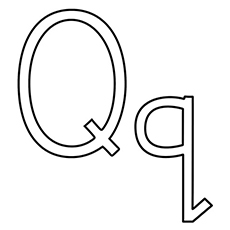 Q Coloring Page the capital and small q the color the queen the q and q color the q