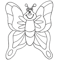 Cartoon Butterfly Picture to Color
