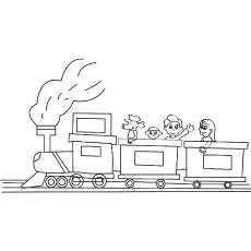 The Children On A Toy Train-16