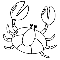 Chilled Crab Coloring Pages