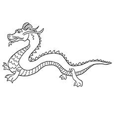 Chinese Dragon Worksheets to Color