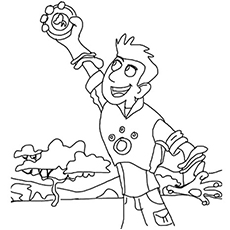 photograph about Wild Kratts Printable Coloring Pages named Wild Kratts Coloring Webpages - Absolutely free Printable - MomJunction