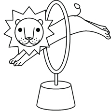 The Circus Lion Coloring Pages