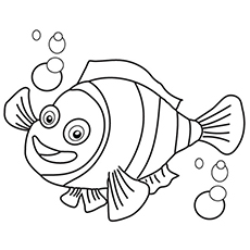 the clownfish - Printable Fish Coloring Pages