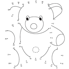Connect The Dot Coloring Page