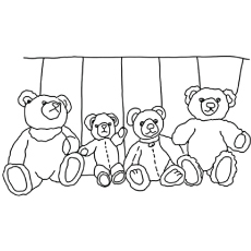 Coloring Pages Of Count The Teddy Bear