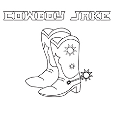 The-Cowboy-Boots-16 coloring pages images