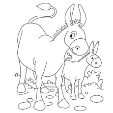 the donkeys paws on ears - Donkey Coloring Pages