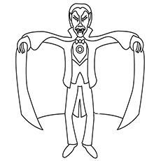 Halloween Dracula Image to Color