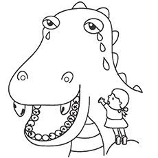 Dragon With Cavity Coloring Worksheet