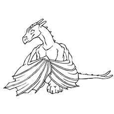 Dragon Has Big Wings Coloring Page For Kids