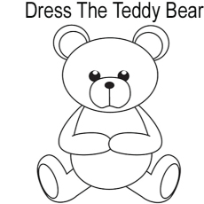 Coloring Pages Dress The Teddy Bear