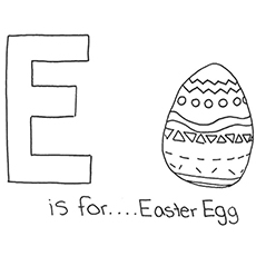 the e for easter egg
