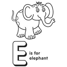 the e for elephant