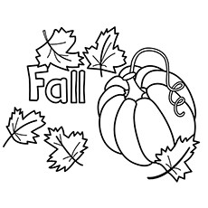 Fall Pumpkins Colouring Pages