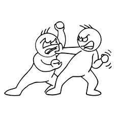 Fighting Emotions Coloring Pages to Print