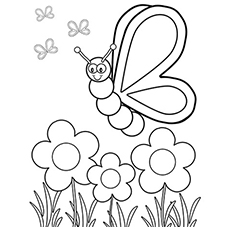 The Flower And Insect Coloring Pages