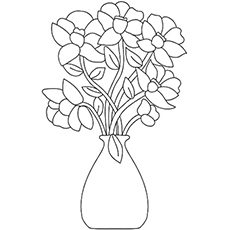 the flower bouquet coloring pages