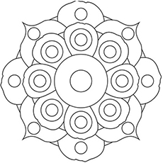 the flower mandala coloring pages - Flower Printable Coloring Pages