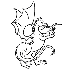 Flying Dragon Coloring Page for Little Ones