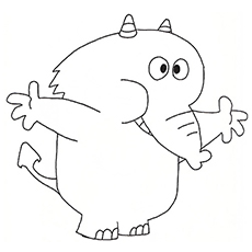 Fred Fredburger Elephant Coloring page