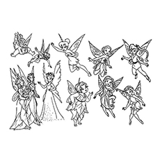 Tinkerbell Gang Coloring Pages