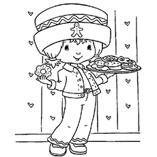 Coloring Pages of Ginger Snap Character from Strawberry Shortcake