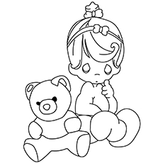 Coloring pages For The-Girl-With-Teddy-16