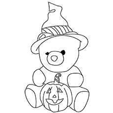halloween teddy bear coloring pages | Top 18 Free Printable Teddy Bear Coloring Pages Online