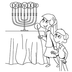 Hanukkah Winter Solstice Coloring Page To Print