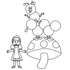 The-Happy-Bug-And-Girl-Mushroom