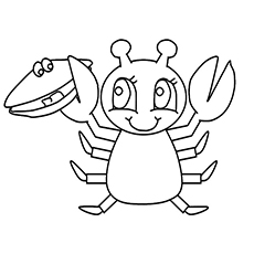 Top 10 Free Printable 8 Crab Crab Coloring Pages Online