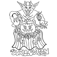 Happy Halloween Coloring Page to Prin
