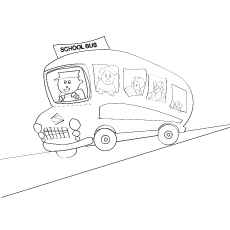 The Happy School Bus Coloring Pages