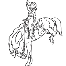 Printable The Jockey Horse Coloring Pages for Children