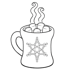 Superior Hanukkah Winter Solstice Coloring Sheet Of Hot Chocolate During Winter  Climate