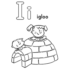 I for Igloo Image to Color