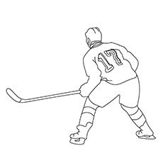 The Intense Hockey Player