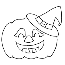 Jack O Lantern Picture to Color