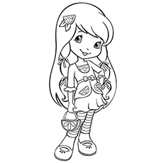 strawberry shortcake character lemon meringue coloring pages