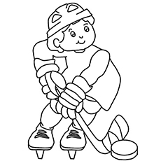 Top 10 Free Printable Hockey Coloring Pages Online