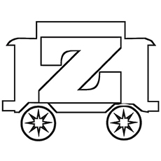 Little Cart Shaped Z Coloring Pages