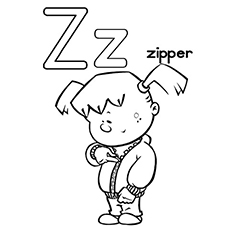 letter z for zipper