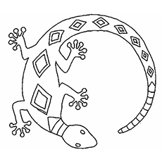 image about Lizard Template Printable called Greatest 10 Absolutely free Printable Lizard Coloring Internet pages On line