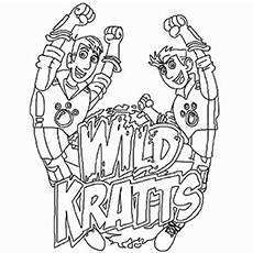 Coloring Pages Wild Kratts The Logo